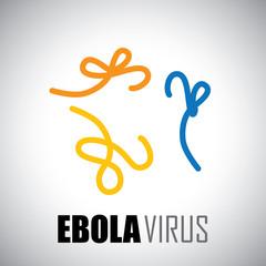 deadly ebola virus epidemic - vector graphic icon.