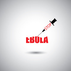 stop ebola worldwide epidemic concept - vector graphic icon