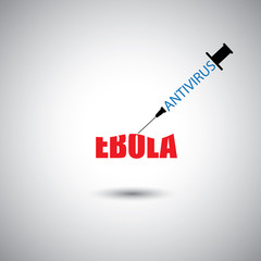 prevent ebola epidemic using antivirus concept - vector graphic