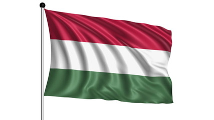 flag of Hungary - loop (+ alpha channel)