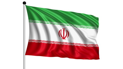 flag of Iran - loop (+ alpha channel)