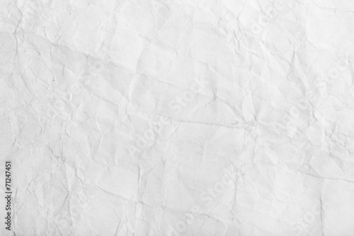 Old white crumpled paper sheet background texture - 71247451