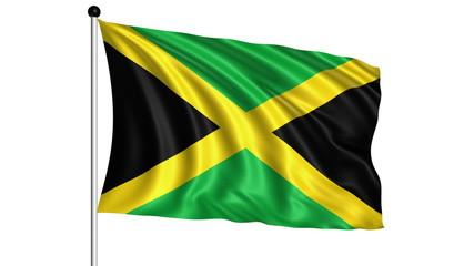 Flag of Jamaica - loop (+ alpha channel)
