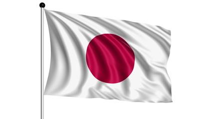 flag of Japan - loop (+ alpha channel)