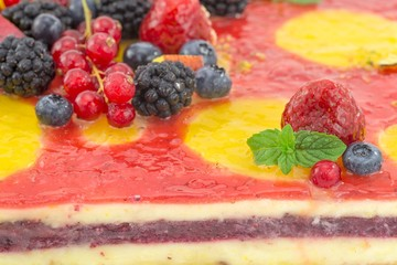 cake with fruit jelly