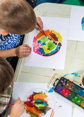 Watercolor in kindergarten