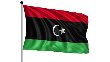 flag of Libya - loop (+ alpha channel)