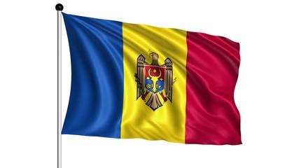 flag of Moldova - loop (+ alpha channel)