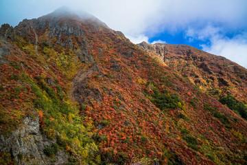 紅葉の那須朝日岳
