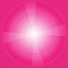 Abstract circles vector pink background