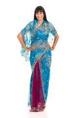 asian woman wearing sari