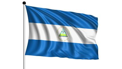 flag of Nicaragua - loop (+ alpha channel)