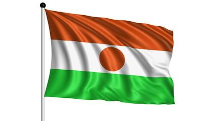 flag of Niger - loop (+ alpha channel)