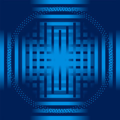 Blue stripe circle Background vector