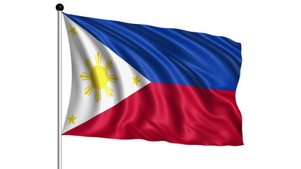 flag of Philippines - loop (+ alpha channel)