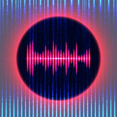 Abstract background equalizer