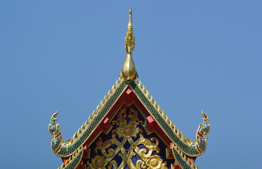 Thai traditional decoration roof of the temple