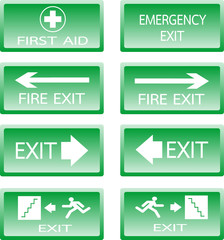 Button Green safety sign