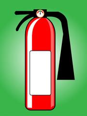 Fire extinguisher. Vector illustration.