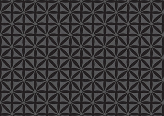 Seamless Black Repeated Pattern Wallpaper