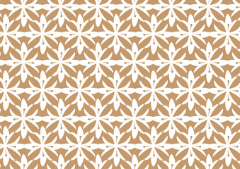 Retro Seamless Brown Stylized Flower Pattern Background