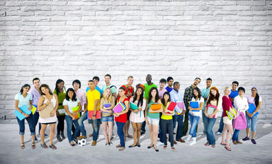 Group of Mixed Age and Race Students