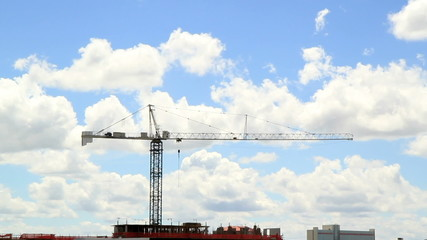 Crane Time Lapse Sky