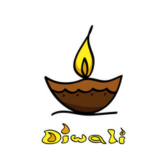 Diwali diya art creative vector design