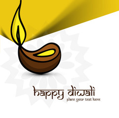 Artistic diwali diya art colorful vector background illustration