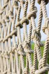 Close up to the climbing ropes