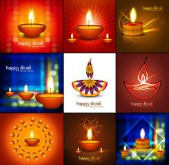 Beautiful happy diwali 9 collection presentation bright colorful