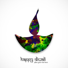 vector artistic diwali diya indian festival background