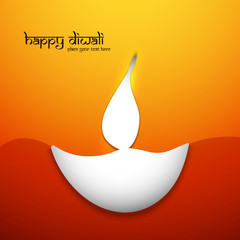 Indian festival colorful Happy Diwali greeting card background