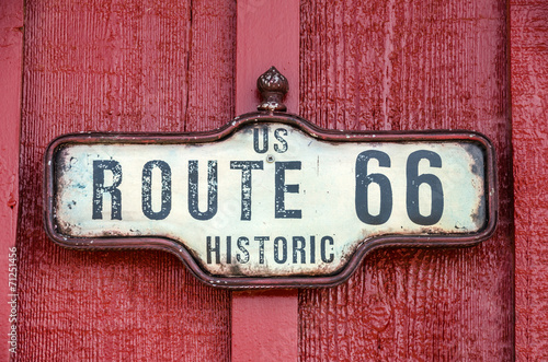 In de dag Texas Historic US Route 66 Sign