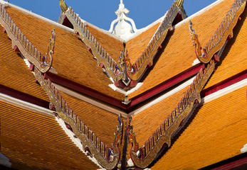 Detailed of Thai temple roof of Wat Phumin