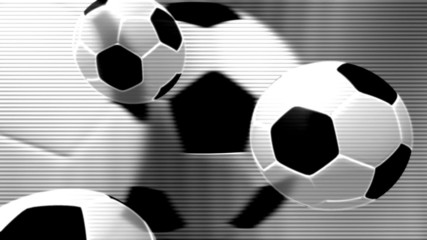 Black and White Soccer looping Background Three
