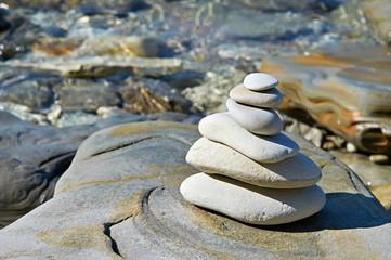 Pyramid of stones zen balance
