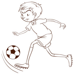 A plain sketch of a soccer player