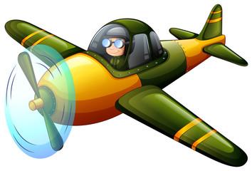 A green vintage plane