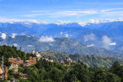 mt.everest taken in nagarkot, nepal - 71252855
