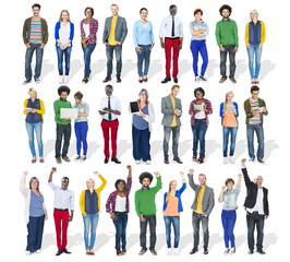 Group of Diverse Multiethnic Cheerful People