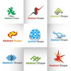 Set of Icons for Corporate Logo Design Template