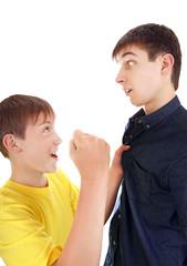 Kid threaten Teenager
