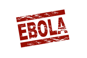 Ebola red stamp illustration