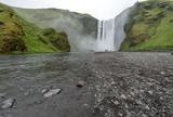 Beautiful waterfall Skogafoss, Iceland. poster