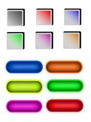 Botones de colores, multiuso, web o aplicaciones