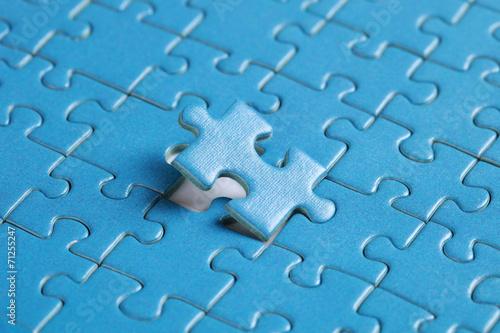 Das letzte Teil im Puzzle Erfolg haben, Teamwork, Ende - 71255247