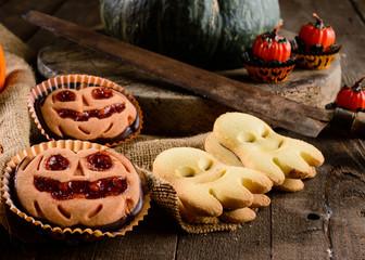 Halloween cookies, pumpkin cookies