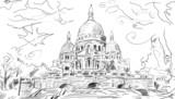 European city street color illustration - 71255866