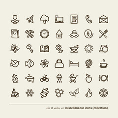 miscellaneous icons (collection)
